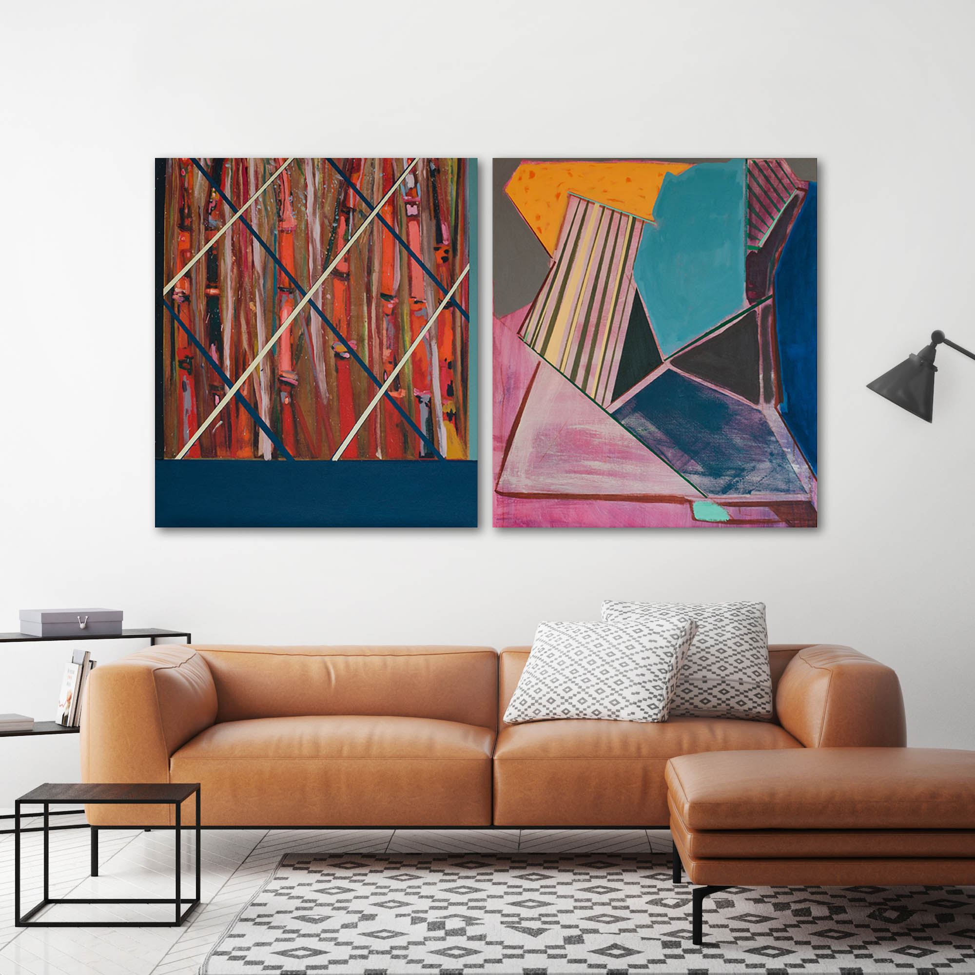 Pintura, Bambúes dinámicos de Agustín Guty González en living