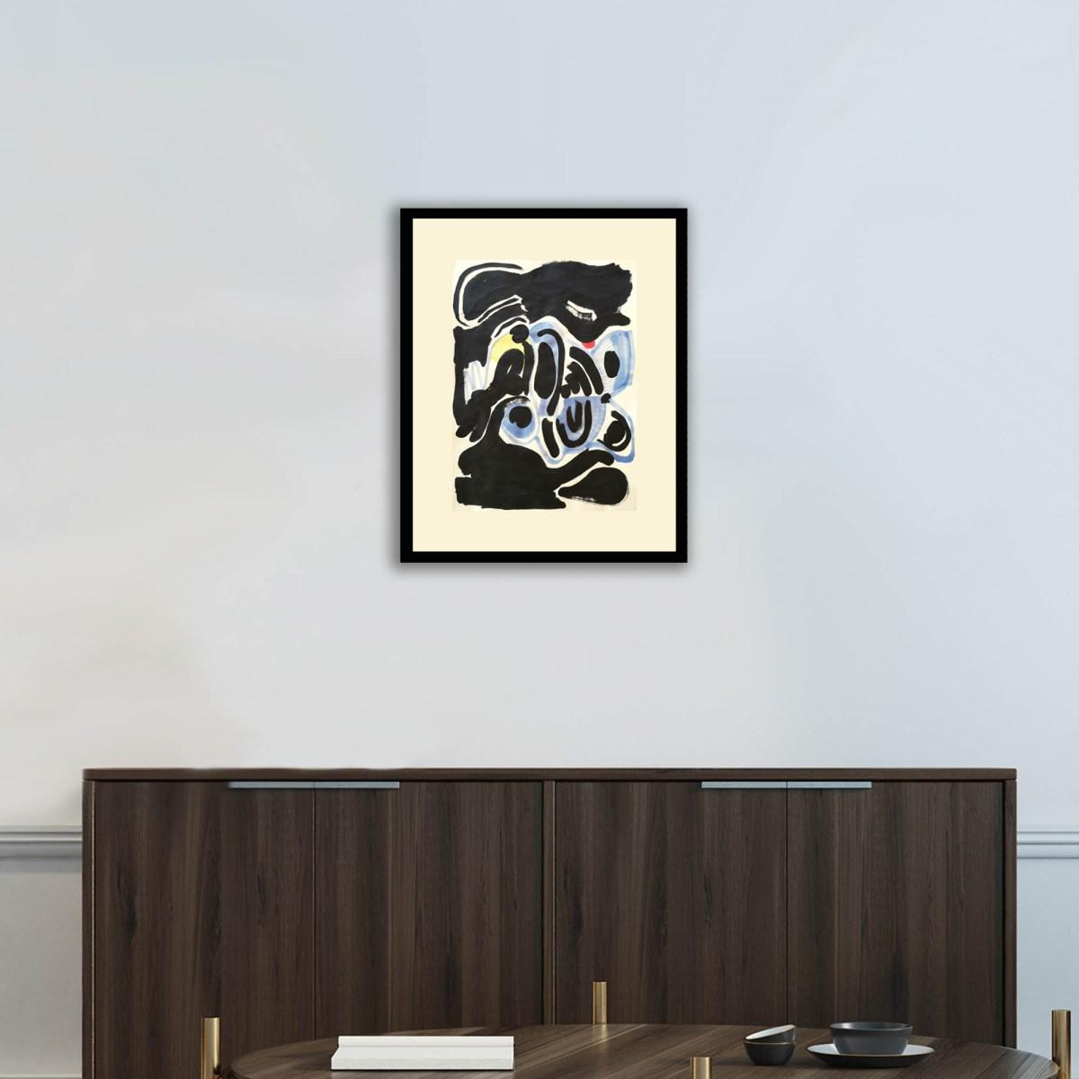 Pintura, Obra Mamá (abrazo) de Diana Quintero Vallejo en escritorio