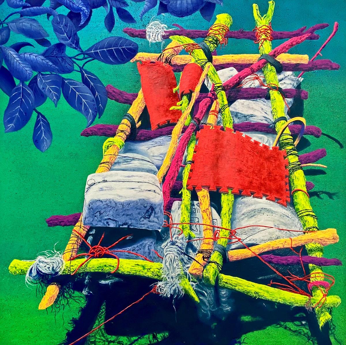 Pintura al óleo sobre lienzo del artista Santiago Robles