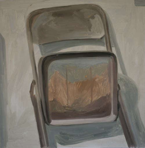 Pintura al óleo sobre papel de la artista Alicia Ayanegui