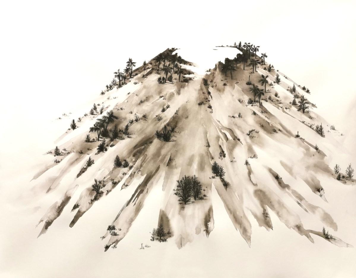 Serie Morfologia del paisaje, Obra Volcan de Magdalena Rantica