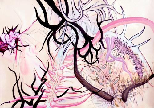 Pintura de Alan Hernández, Obra del Amor y otros demonios