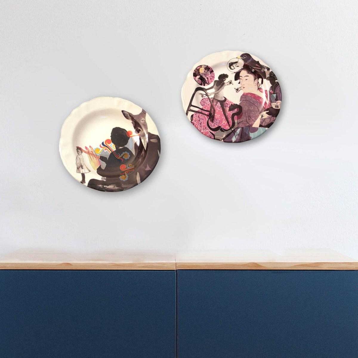 Montaje de obras de la ceramista Ana Gomez