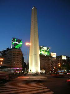 Obélisque de Buenos Aires, vue de nuit