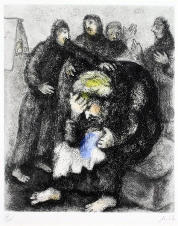Marc Chagall, Les pleurs de Jacob, Haggerty Museum, 1957