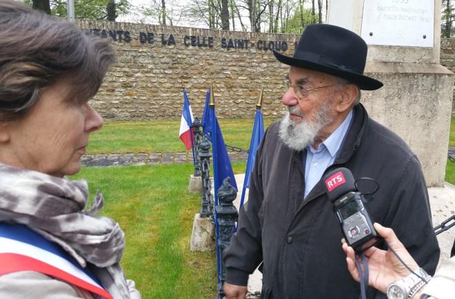 Le Rav Haim Harboun et Florence Napoly (Maire Adjoint)
