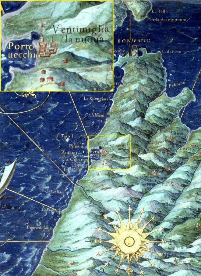 Carte de Corse XVIes détail