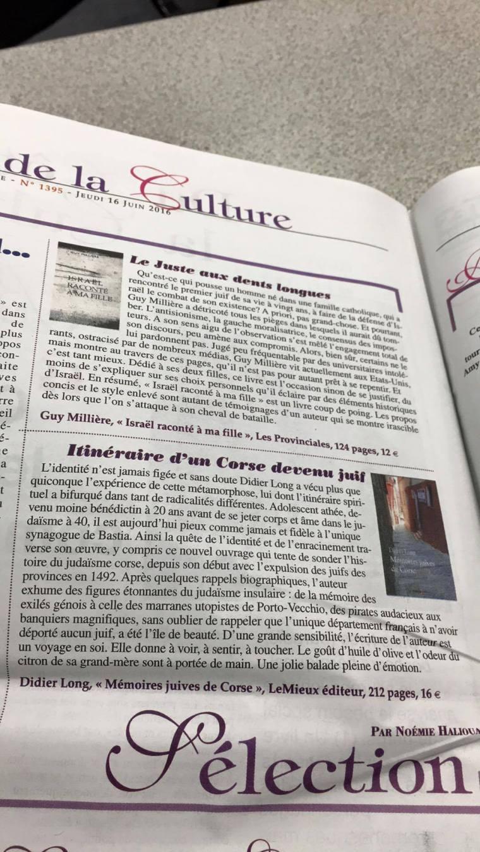 Mémoires Juives de Corse- Actualité Juive
