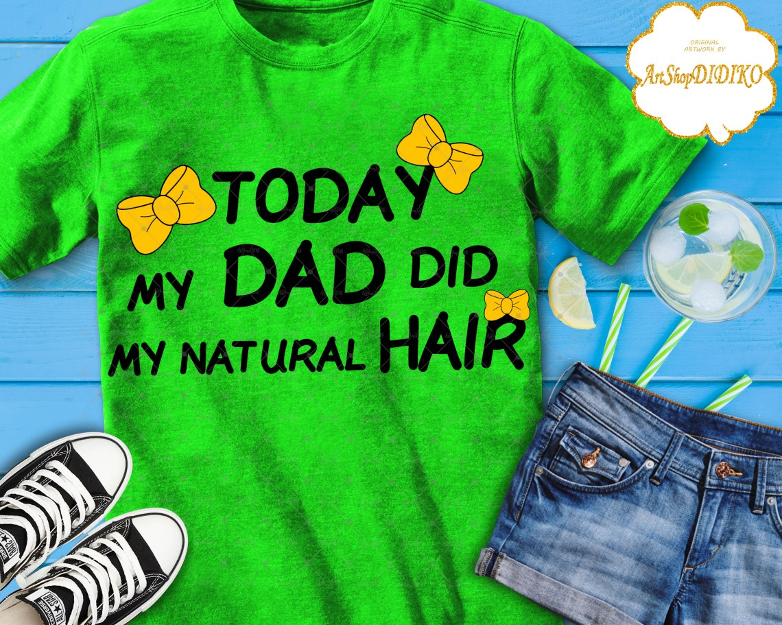 Download Afro Daddy and Me SVG, Dad Did My Natural Hair SVG ...