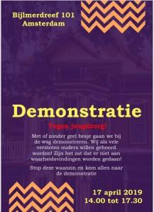 Demonstratie 17 april te Amsterdam