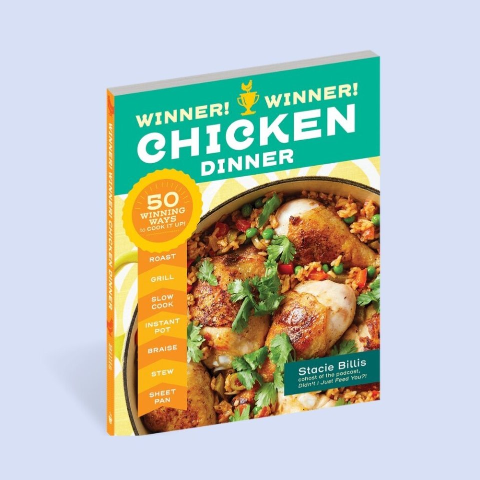 You didn't think we'd launch a gift guide for busy parents & harried cooks and not suggest WINNER! WINNER! CHICKEN DINNER by our very own @staciebillis , did you?!⠀⠀⠀⠀⠀⠀⠀⠀⠀ ⠀⠀⠀⠀⠀⠀⠀⠀⠀ This is the perfect gift for that friend or loved one who's always overwhelmed with getting dinner on the table... this pretty much solves that. Pick up chicken at the market, find a recipe for any cut. Done and done! ⠀⠀⠀⠀⠀⠀⠀⠀⠀ ⠀⠀⠀⠀⠀⠀⠀⠀⠀ Buy a copy and get the rest of our #giftguide picks in this week's show notes (link in bio!).⠀⠀⠀⠀⠀⠀⠀⠀⠀ ⠀⠀⠀⠀⠀⠀⠀⠀⠀ #DIJFY #didntijustfeedyou #holidayshopping #holidaygifts #holidaygiftguide #feedingmyfamily #feedingkids #familymeals #momswhocook #cookbookaddict #bestcookbooks2020