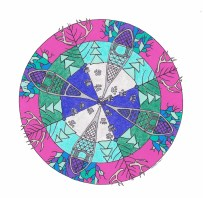 Snowshoe Mandala (January) - SOLD