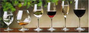 The proper wine glasses - courtesy of wineview