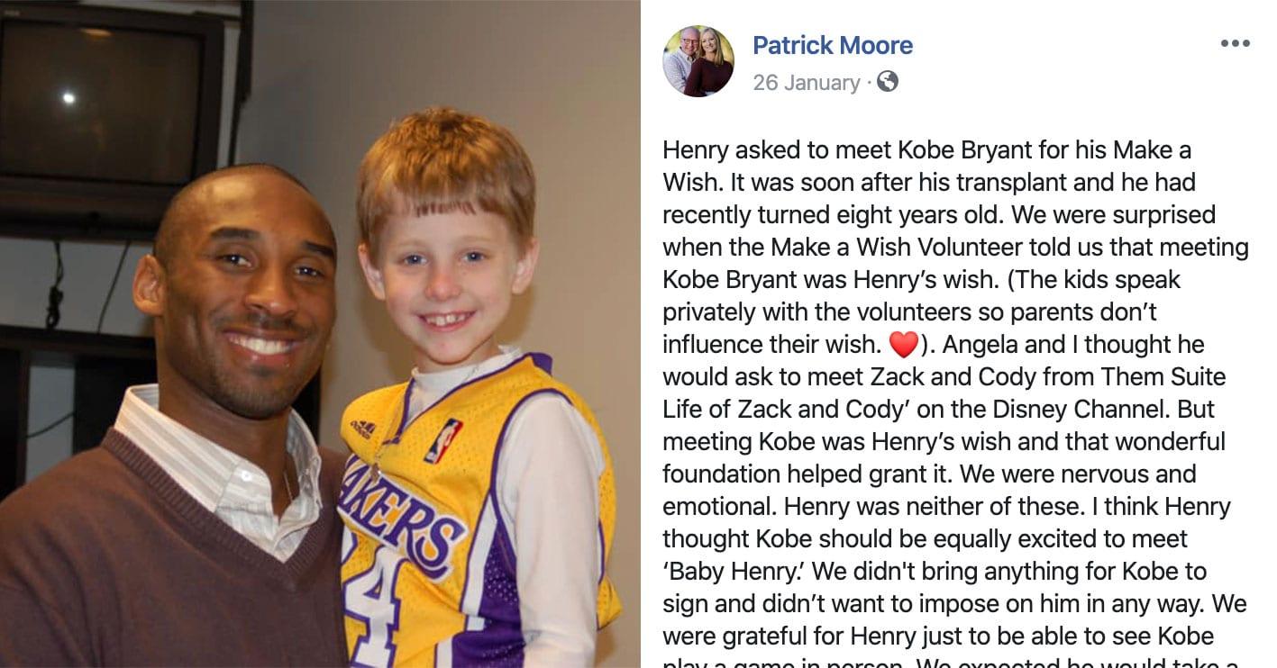 Kobe Bryant Made Over 200 Kids Happy Through The Make A Wish Program