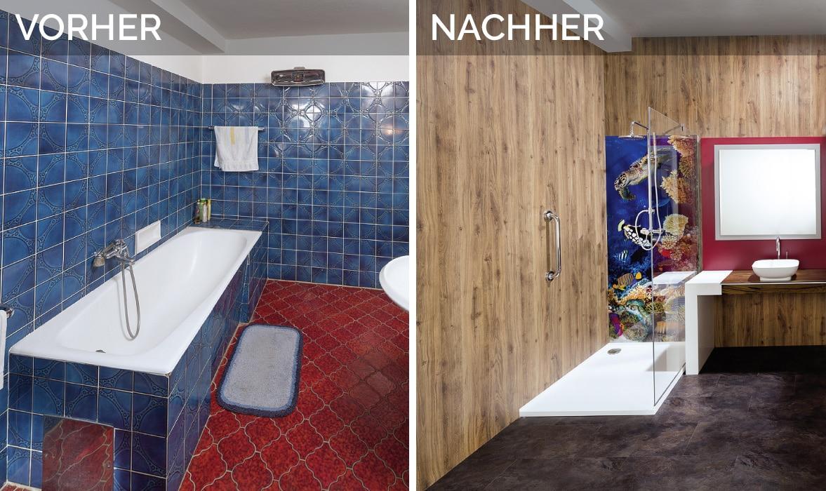 wandpaneele bad preise glas statt fliesen im bad pflegeleicht und dekorativ. Black Bedroom Furniture Sets. Home Design Ideas