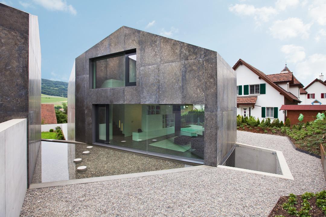 Moderne Hauser Plane