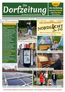 Titelbild Die Dorfzeitung Reinickendorf Juli 2021