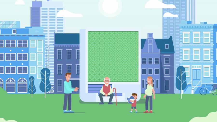 Referenzen Green-City-Solutions-CityTree-–-Erklärvideo-im-Motion-Graphic-Flat-Design-Stil