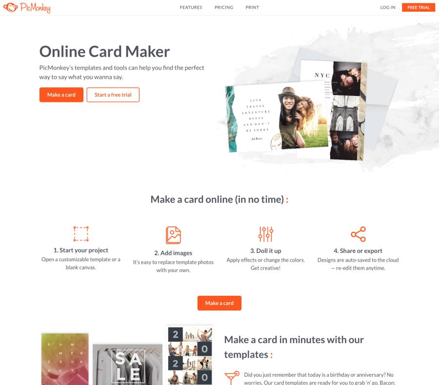 Die beste animierte E-Card Grußkarte erstellen – Vergleich: Beispiele, Anbieter, Preise, Agenturen PicMonkey-ist-ein-weiterer-Online-Grußkartenmacher