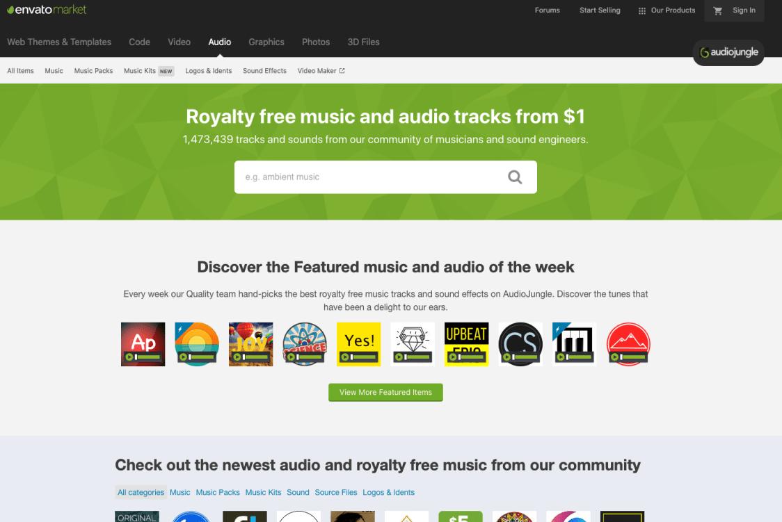 Musik & Sound für Video - 13 Orte, um Hintergrundmusik für Ihren Videoinhalt zu finden AudioJungle-1