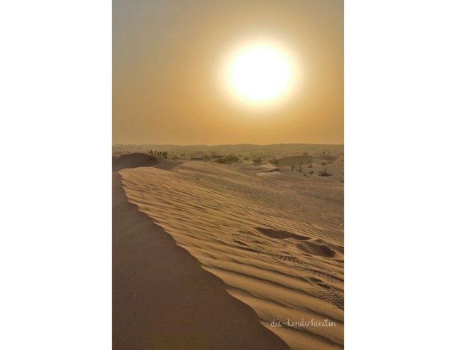Dubai Sonnenuntergang Wüste Sanddüne