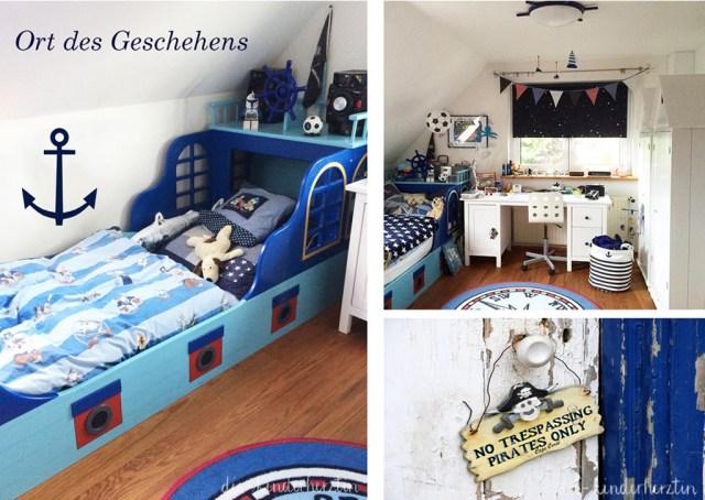 Geburtsbericht der etwas anderen Art die-kinderherztin Kinderzimmer Piratenbett maritime Deko