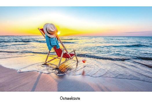 Ostsee Lübecker Bucht - Strandliege im Sonnenaufgang