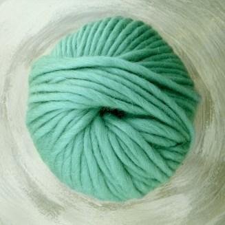 © Die Maschen zum Glück | Dochtwolle Oslo Mint von Seehawer Naturfasern, dickes XL Schnellstrickgarn