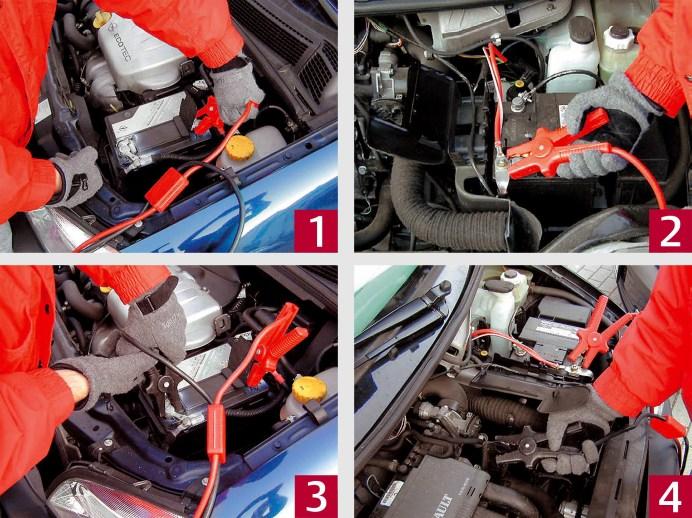 Hier die Reihenfolge, wie die Batterie überbrückt werden Muss. Foto: GTÜ