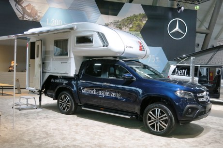 Mercedes-Benz X-Klasse mit Tischer-Absetzkabine Trail 230 S. Foto: Auto-Medienportal.Net/Michael Kirchberger