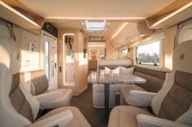 Das offene Design der Hymer B-Klasse wirkt außerordentlich luftig