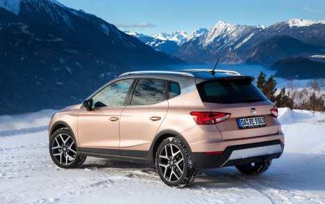 Der Seat Arona kommt auch im Winter gut zurecht. Foto: Seat