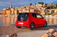 In 8,8 Sekunden beschleunigt der Up GTI von 0 auf 100 und schafft 196 km/h Höchstgeschwindigkeit. Foto: Auto-Medienportal.Net/Volkswagen