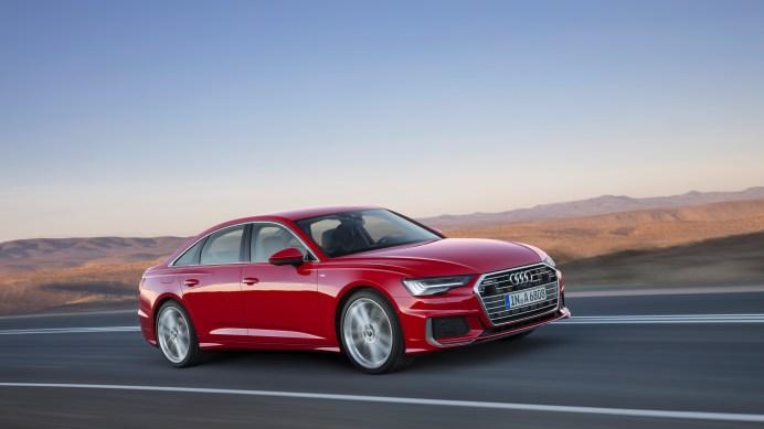 Das Exterieur des Audi A6 besticht durch ausgewogene Proportionen – lange Motorhaube, langer Radstand und kurze Überhänge. Die Maße ändern sich nur marginal. Foto: Audi