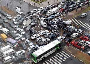 Kreuzung in Sao Paulo - das tägliche Chaos. Foto: Auto-Medienportal.Net/ Sao Paulo Facebook
