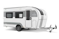 Der Coco frischt mit schickem Design und neuen Ideen das Wohnwagen-Segment auf. © Dethleffs