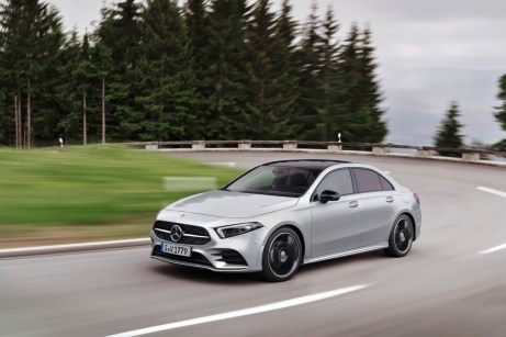 Kompaktes Stufenheck: Die neue A-Klasse Limousine. © Daimler