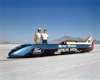 Challenger II: Der Rekordversuch von Mickey Thompson (hier mit dem damals 19-jährigen Sohn Danny) fiel 1968 buchstäblich ins Wasser. Foto: Auto-Medienportal.Net/Thompsonslr