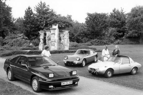 Eine Ikone seiner Zeit: der Toyota Supra. Gebaut wird der Sportwagen mit den hochgeklappten Scheinwerfern von 1978 bis 2002. © Toyota