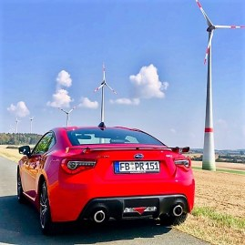 Das wuchtige Heck des Subaru BRZ. Foto: Klaus H. Frank