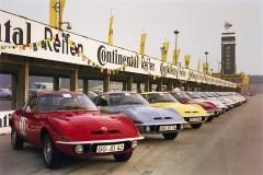 Opel GT bei seiner Medienpremiere auf dem Hockenheimring (1968). Foto: Auto-Medienportal.Net/Opel