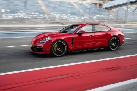 Fit für die Rennstrecke: der Porsche Panamera GTS mit 460 Pferdestärken. © Porsche