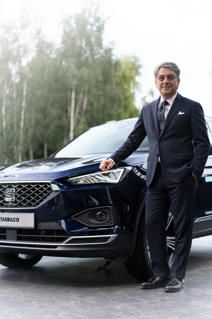 """Luca de Meo, Vorstandsvorsitzender von SEAT sagt: """"Bis 2020 wollen wir alle sechs Monate ein neues Modell vorstellen – einerseits eine enorme Herausforderung für das Unternehmen, andererseits aber auch eine großartige Chance, um das Potenzial von SEAT und auch von CUPRA zu zeigen."""""""