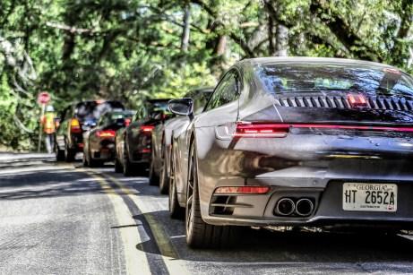 Im Fokus der Erprobungen des neuen Porsche 911 standen dabei die klassischen Porsche-Kernkompetenzen wie Fahrwerk und Motor mit der nochmals vergrößerten Spreizung zwischen Performance und Alltagstauglichkeit. Foto: Porsche