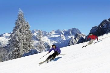 Das Skigebiet Dachstein-West: Ski-Abfahrt bei Traum-Wetter. Foto: Skiregion Dachstein West