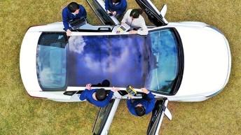 Der koreanische Konzern will mit den Solarpaneelen zusätzliche elektrische Leistung für Verbrennungs-, Hybrid- und Batterie-Elektrofahrzeuge generieren, was die Energiebilanz der Fahrzeuge verbessert und die Reichweite für Elektromobilität erhöht. Foto: Auto-Medienportal.Net/Hyundai