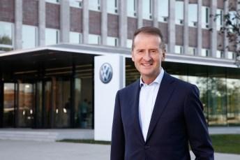 """Wir fokussieren uns mit unseren Investitionen auf die Zukunftsfelder der Mobilität und setzen unsere Strategie konsequent um"""", sagt Volkswagen-Chef Herbert Diess,Chairman of the Board of Management of the Volkswagen Passenger Cars brand. © VW"""
