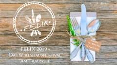 Rustikales Tischgedeck - Felix 2019. Foto: Felix 2019