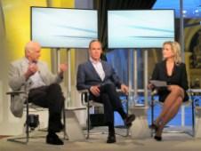 Beim Schlusswort: Dr. Thilo Weichert neben Christoph Keese und Carola Ferstl