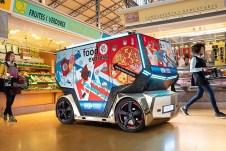 Der Rinspeed Micro Snap als Food-Truck. Foto: Auto-Medienportal.Net/Rinspeed